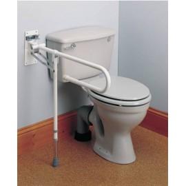 Barre d'Appui Toilettes Relevable avec Pied, Barre handicapé WC