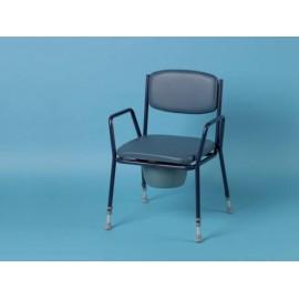 Chaise Percée, Fauteuil de WC avec accoudoirs DAYS, pour personnes fortes ou obèses