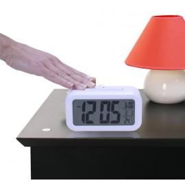 Réveil Grands Caractères, Gros chiffres, Thermomètre, Calendrier