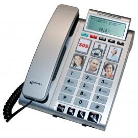 Téléphone Malentendants, Amplifié, Touches mémoires photos