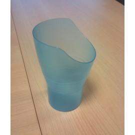 Gebelet avec découpe pour le nez, bleu, Verre ergonomique pour boire en restant droit