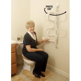 Barre de maintien pivotante WC, Salle de bain, Douche, Appui pour personnes agées