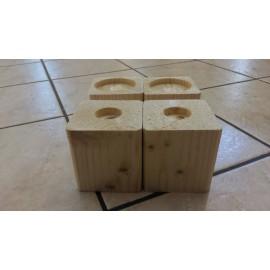 Surélévateur de lit ou de meuble en sapin - 16 cm