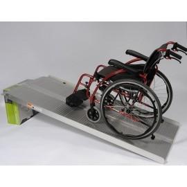 Rampe d'accès handicapé pliable en aluminium - Long. 2m13 / Larg. int. 76 cm