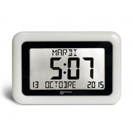 Horloge Gros Chiffres pour malvoyant, Date et Heure